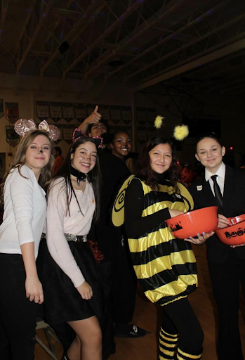 Wyoming High School's BPA students Tori Virkstis, Gaby Martinez, Eze Guillen, Quiana Wade, Jasmine Valle, and Brianna Hoffman at the 2018 annual Trunk or Treat.