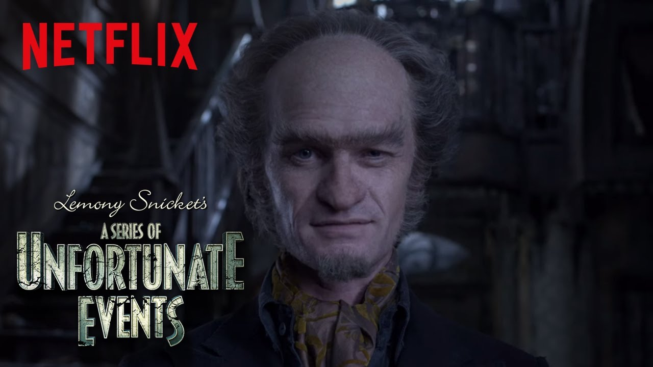 A picture of the antagonist of the series, Count Olaf.