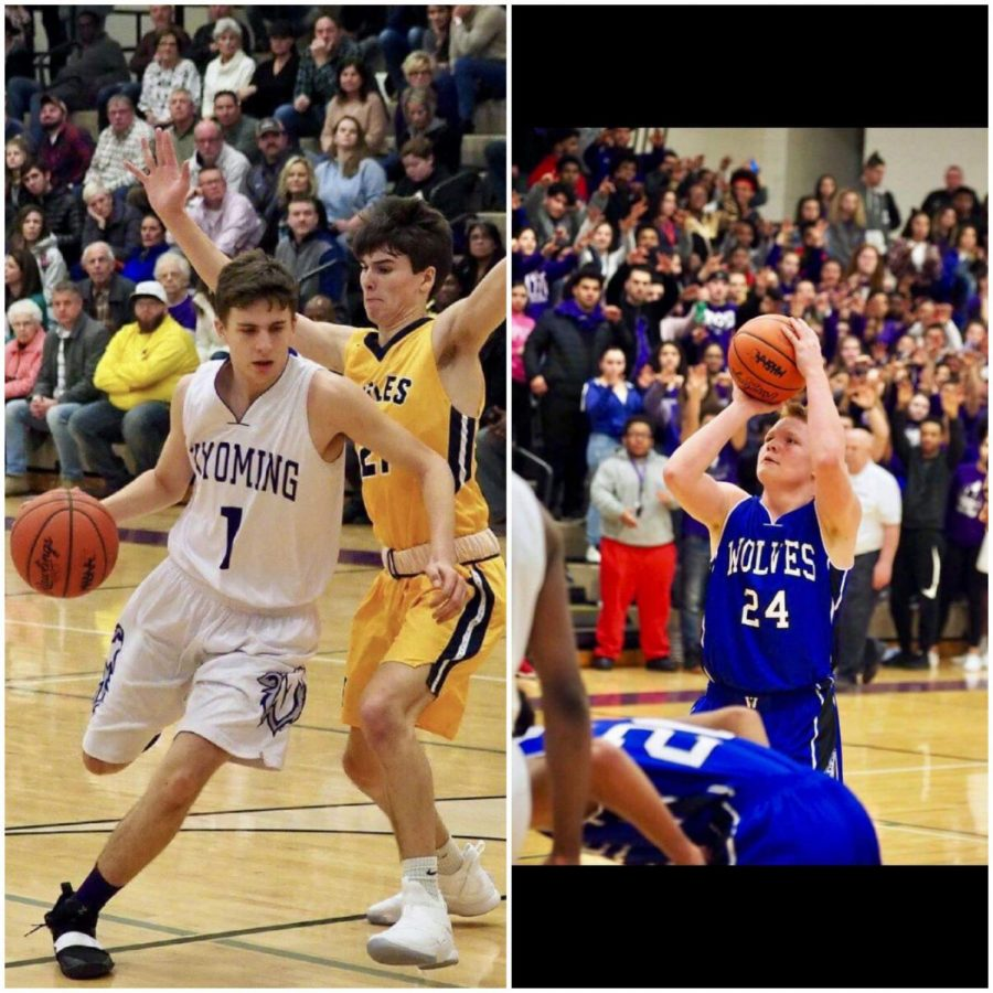 Payton+Stark+drives+to+the+basket+during+senior+night.+%0A%0AZachary+Fry+shoots+a+free+throw+in+Districts+Finals+against+East+Kentwood.+%0A%0A