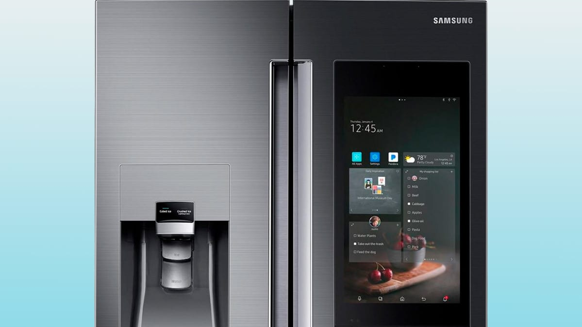 Samsung's Smart Refrigerator with a built-in internet connection.