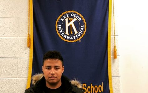 Official Key Club Banner in Wyoming High School.