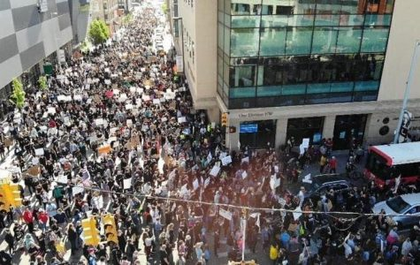 The protest in downtown Grand Rapids on May 30.