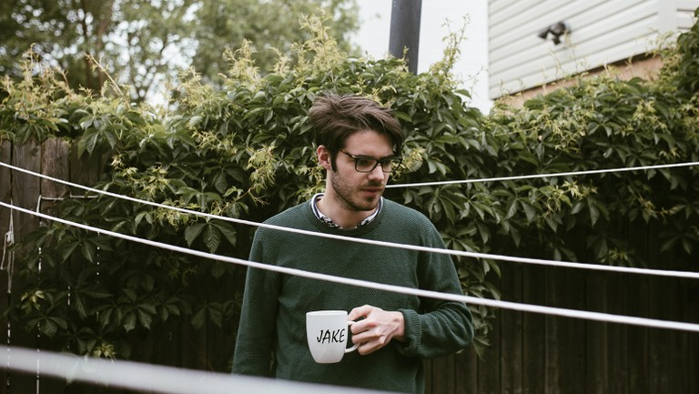 Jake Ewald - lead singer of Modern Baseball and Slaughter Beach, Dog