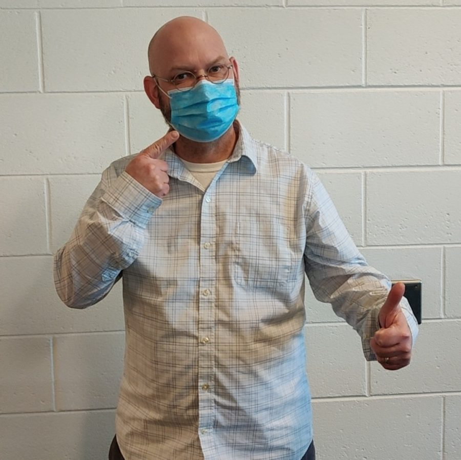 Mr. Cornell gives a great example of how to properly wear a mask.