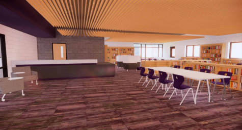 Rendered photos of the new library