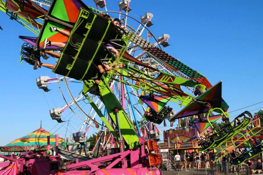Carnival rides in motion!