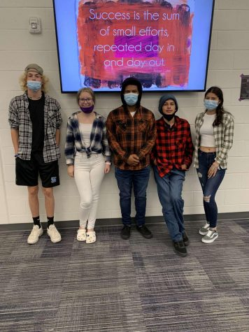 Wyoming students on flannel day!