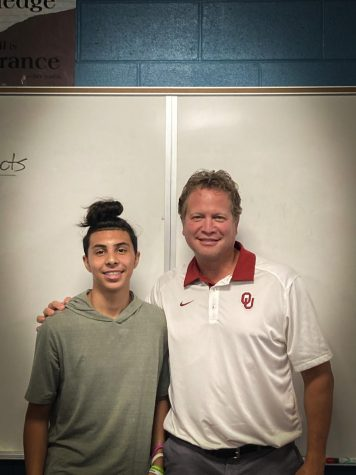 Mr.Vangorp with one of his students